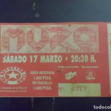 Entradas de Conciertos: ENTRADA CONCIERTO MURO 2001. Lote 145016734