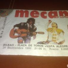 Entradas de Conciertos: ENTRADA CONCIERTO DE MECANO. BILBAO 1992. RARA.. Lote 145777593