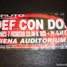 Entradas de Conciertos: DEF CON DOS NARCOS ENTRADA DE CONCIERTO TICKET ARENA AUDITORIM VALENCIA. Lote 147321158
