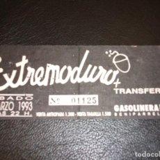 Entradas de Conciertos: EXTREMODURO - TRANSFER 1993 ENTRADA DE CONCIERTO TICKET BENIPARRELL VALENCIA. Lote 147372390