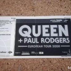 Entradas de Conciertos: ENTRADA QUEEN + PAUL RODGERS, EUROPEAN TOUR 2008, MURCIA, 24/10/08. Lote 147624370