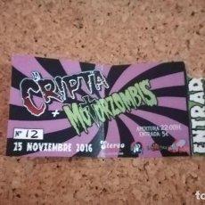 Entradas de Conciertos: ENTRADA LA CRIPTA + MOTORZOMBIS, ALICANTE, 25/11/16. Lote 147624874