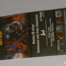 Entradas de Conciertos: IRON MAIDEN ENTRADA TICKET ORIGINAL CONCIERTO VALENCIA 1998 SPAIN SIN USAR / MINT. Lote 147713042