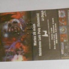 Entradas de Conciertos: IRON MAIDEN ENTRADA TICKET ORIGINAL CONCIERTO VALENCIA 1998 SPAIN SIN USAR / MINT. Lote 147713214