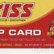 Entradas de Conciertos: FLYER / KISS IBIZA / VIP CARD. Lote 151617258