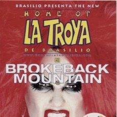 Entradas de Conciertos: FLYER / SPACE - IBIZA / LA TROYA DE BRASILIO / BROKEBACK MOUNTAIN. Lote 151705138