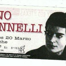 Entradas de Conciertos: GINO VANNELLI: ENTRADA CONCIERTO-ITALIA- SALA ZELESTE BARCELONA- NUEVA SIN USAR Y ANTIGUA- COLECCION. Lote 152159182