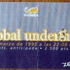 Entradas de Conciertos: ENTRADA CONCIERTO TRANSGLOBAL UNDERGROUND - BARCELONA 1995 - ZELESTE. Lote 154160598