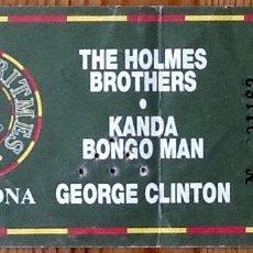 Entradas de Conciertos: ENTRADA CONCIERTO GEORGE CLINTON + KANDA BONGO MAN + THE HOLMES BROTHERS - BADALONA -. Lote 154164294