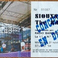 Entradas de Conciertos: ENTRADA CONCIERTO SIOUXIE & THE BANSHEES - BARCELONA - STUDIO 54. Lote 154170710