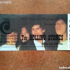 Entradas de Conciertos: ROLLING STONES. VICENTE CALDERON 1982. ENTRADA CONCIERTO. REPLICA. Lote 154629634