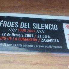Entradas de Conciertos: HEROES DEL SILENCIO - ENTRADA TOUR 2007 - LA ROMAREDA. Lote 155259044