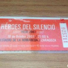 Entradas de Conciertos: HEROES DEL SILENCIO - ENTRADA TOUR 2007 - LA ROMAREDA. Lote 155259156
