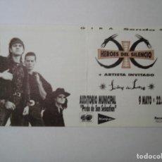Entradas de Conciertos: ENTRADA CONCIERTO HEROES DEL SILENCIO, GIRA SENDA 1991. Lote 155466170