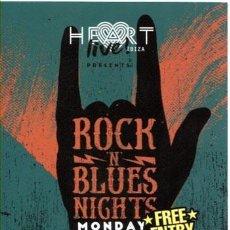 Entradas de Conciertos: FLYER / HEART IBIZA / ROCK N BLUES NIGHTS / JUNIO 2012. Lote 155483170