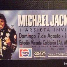 Entradas de Conciertos: ENTRADA MICHAEL JACKSON - ESTADIO VICENTE CALDERÓN, MADRID 7 AGOSTO. Lote 155533218