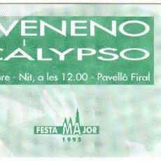 Entradas de Conciertos: ENTRADA CONCIERTO - KIKO VENENO - DR. CALYPSO. Lote 156712574