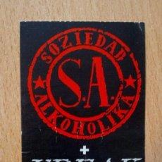 Entradas de Conciertos: ENTRADA SOZIEDAD ALKOHOLIKA AÑOS 90 SA FREAK XXI SALA ZELESTE 1.800 PTAS. Lote 156895054