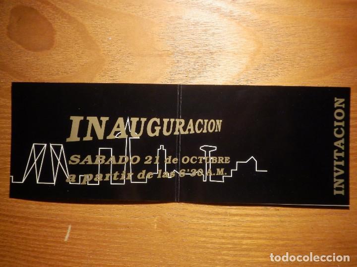 INVITACIÓN INAUGURACIÓN DISCOTECA STUDIO 12 - CALLE ORENSE, 12, BAJOS ZONA AZCA - MADRID - AÑOS 80´S (Música - Entradas)