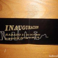 Entradas de Conciertos: INVITACIÓN INAUGURACIÓN DISCOTECA STUDIO 12 - CALLE ORENSE, 12, BAJOS ZONA AZCA - MADRID - AÑOS 80´S. Lote 157366358