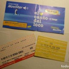 Entradas de Conciertos: LOTE ENTRADAS CONCIERTOS LA OREJA DE VAN GOGH Y EL CANTO DEL LOCO. Lote 158157158