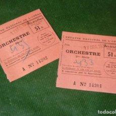 Entradas de Conciertos: DOS ENTRADAS THEATRE NATIONAL DE L'OPERA - PARIS - 17 DICIEMBRE 1934. Lote 160529370