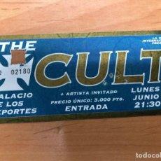 Entradas de Conciertos: ENTRADA CONCIERTO THE CULT PALACIO DE LOS DEPORTES BARCELONA. Lote 162926722
