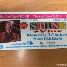 Entradas de Conciertos: ENTRADA CONCIERTO STING THE SOUL CAGES TOUR ESTADIO R.C ESPAÑOL BARCELONA. Lote 162926870