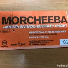 Entradas de Conciertos: ENTRADA CONCIERTO MORCHEEBA SALA ZELESTE BARCELONA. Lote 162927322