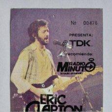 Entradas de Conciertos: ENTRADA DE ERIC CLAPTON & HIS BAND EN EL PALACIO MPAL. DE DEPORTES DE BARCELONA, AÑO 1983. Lote 165532346