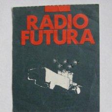 Entradas de Conciertos: ENTRADA DE RADIO FUTURA EN LA SALA ZELESTE DE BARCELONA, AÑO 1987. Lote 165538954