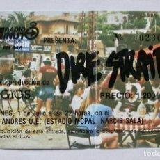 Entradas de Conciertos: ENTRADA DE DIRE STRAITS EN EL ESTADIO MPAL. NARCÍS SALA DE BARCELONA, AÑO 1983. Lote 165539822