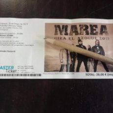 Entradas de Conciertos: ENTRADA CONCIERTO ROCK MAREA ZARAGOZA 2019 GIRA EL AZOGUE. Lote 166028989