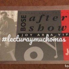 Billets de concerts: MIGUEL BOSÉ TOUR 1990. PASE ÁREA VIP AFTER SHOW EN SALA JOY (MADRID), 4/9/1990. PLASTIFICADA.. Lote 166066338