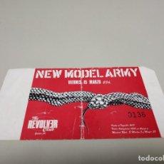 Entradas de Conciertos: 519- ENTRADA ORIGINAL NEW MODEL ARMY 15/03 80/90 S REVOLVER CLUB. Lote 166298066