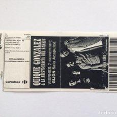 Entradas de Conciertos: ENTRADA QUIQUE GONZÁLEZ 2008. Lote 166673244