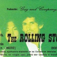 Entradas de Conciertos: ENTRADA INVITACIÓN CONCIERTO THE ROLLING STONES MADRID 1982. Lote 166973468
