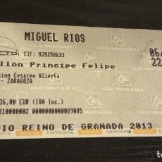 Entradas de Conciertos: -ENTRADA CONCIERTO MIGUEL RIOS - PABELLON PRINCIPE FELIPE ZARAGOZA 2011. Lote 167629824