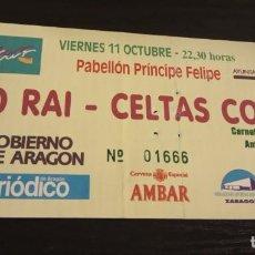 Entradas de Conciertos: -ENTRADA CONCIERTO IXO RAI + CELTAS CORTOS . ZARAGOZA PILAR 1996 AMBAR. Lote 167629892