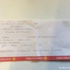 Entradas de Conciertos: ENTRADA CONCIERTO MANOLO GARCIA GIRA NUNCA EL TIEMPO ES PERDIDO BARCELONA 2001. Lote 168078528