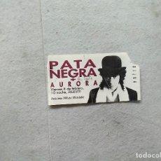 Entradas de Conciertos: ENTRADA CONCIERTO PATA NEGRA 8 DE FEBRERO SALA ZELESTE BARCELONA . Lote 169281028