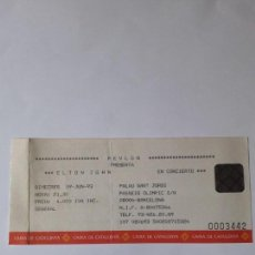 Entradas de Conciertos: ENTRADA CONCIERTO ELTON JOHN.PALAU SANT JORDI (BARCELONA)1993. Lote 170092836