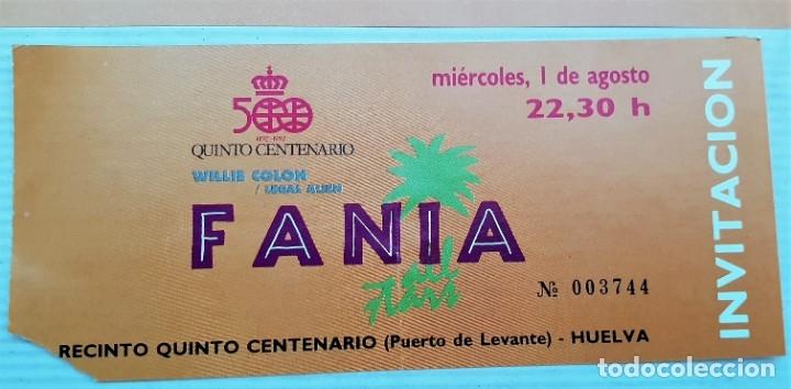 Entradas de Conciertos: Entrada y folleto festival Fania 1990 Huelva - Foto 2 - 171444778