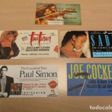 Entradas de Conciertos: ROXY MUSIC+ KING CRIMSON - JOE COCKER - SADE - TINA TURNER - PAUL SIMON - ENTRADAS - STUDIO 54 - BCN. Lote 172615049