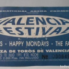 Entradas de Conciertos: PIXIES HAPPY MONDAYS THE FARM ENTRADA TICKET VALENCIA FESTIVAL 1991 VALENCIA ESPAÑA SPAIN. Lote 172931360