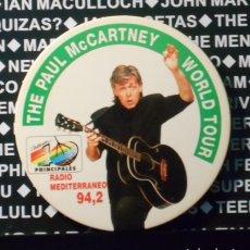 Entradas de Conciertos: PAUL MCCARTNEY BEATLES BADGE CHAPA 9 CMS APROX ORIGINAL WORLD TOUR 1989 ESPAÑA SPAIN 1989. Lote 223930542