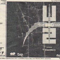 Biglietti di Concerti: ENTRADA ORIGINAL CONCIERTO U2. BARCELONA JULIO 2009. Lote 175908728