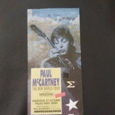 Billets de concerts: ENTRADA INVITACIÓN PAUL MCCARTNEY THE NEW WORLD TOUR BARCELONA 1993 BEATLES SIN USAR. Lote 176237668