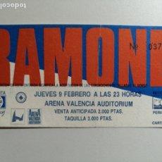 Entradas de Conciertos: ENTRADA CONCIERTO - THE RAMONES - SALA ARENA AUDITORIUM - 9 DE FEBRERO 1989 . Lote 178570972
