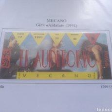 Entradas de Conciertos: ENTRADA CONCIERTO MECANO SEVILLA 1991. Lote 178781373
